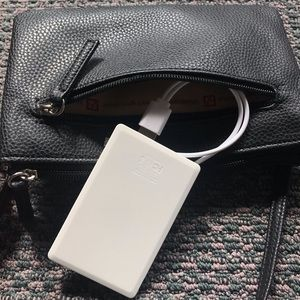Brand New Leather Purse w/ CellPhone Charger